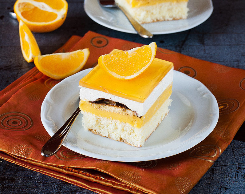cpomarańczowiec ciasto delicja z kremem