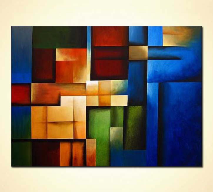 Painting For Sale Blue Geometric Painting 3168
