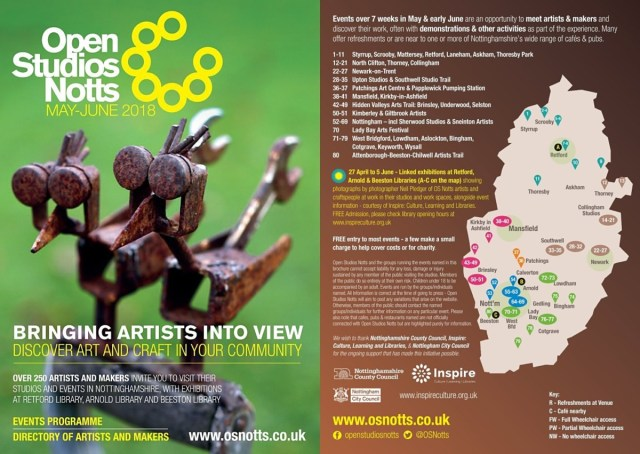 Open Studios Notts 2018 brochure