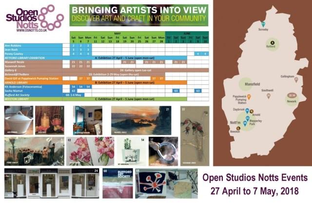 Open Studios Notts Events weks 1-2