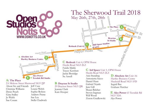 Sherwood Studios Trail map