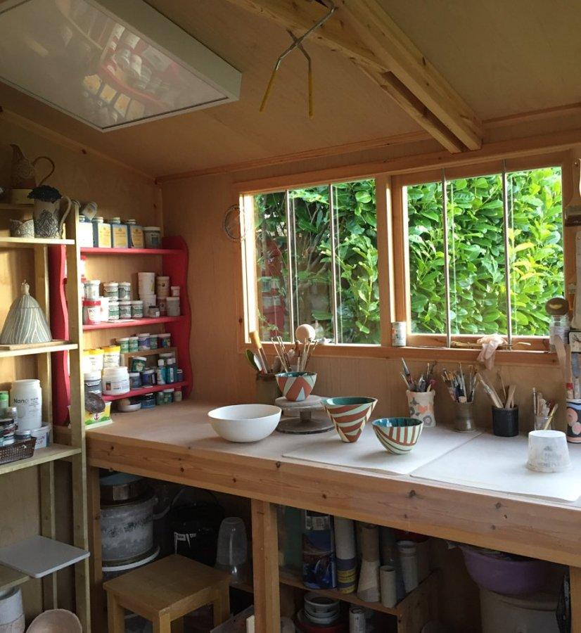 Anna Binns - The pottery workbench