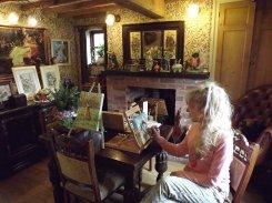 Jude Rawson - painting at table