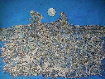 Sally Brackett - Moon Owls