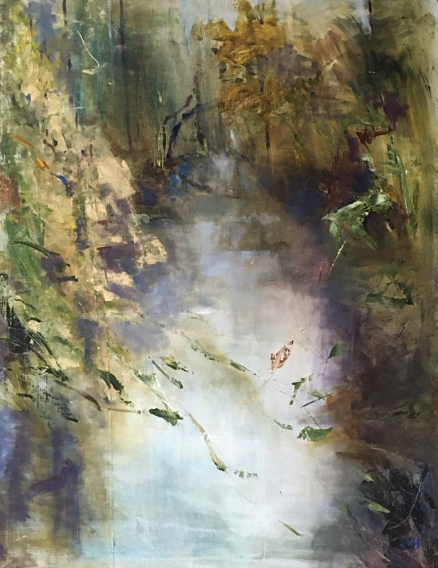 Sarah Heelis, Clumber Park Reflections, Oil on Board 60x80cm £425 - SARAH NESBITT