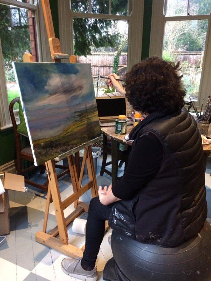 Sarah Heelis in the Green room - SARAH NESBITT