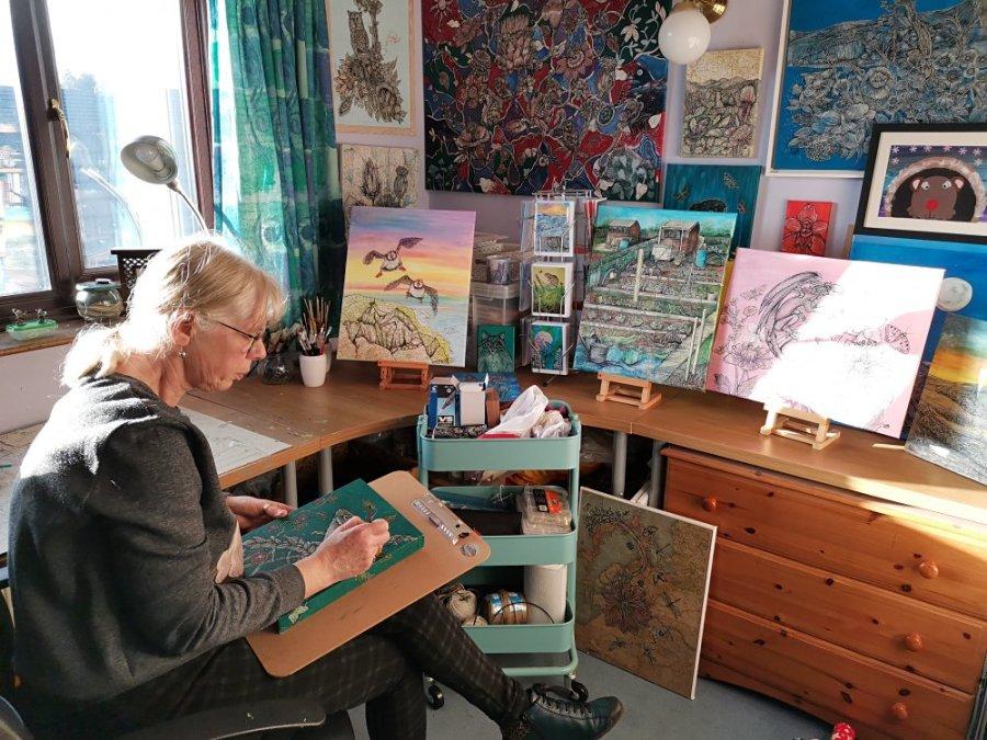 SallyAnn in studio - Sally Brackett