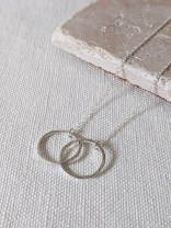 Lianne Hoult - Figure Jewellery - Interlocked Hammered Circles Pendant
