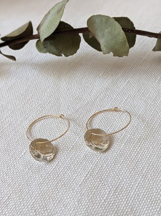 Lianne Hoult - Figure Jewellery - Hammered Disc Hoops