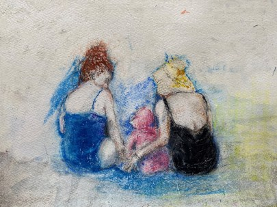 Angela Mulholland - Family at the Beach