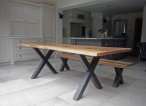 Griffin & Sinclair, Clayworth dining table, ash and steel