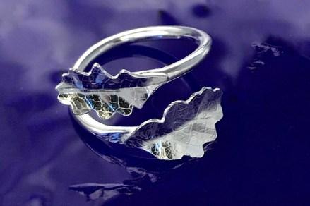 Helen Domleo, oak leaf ring