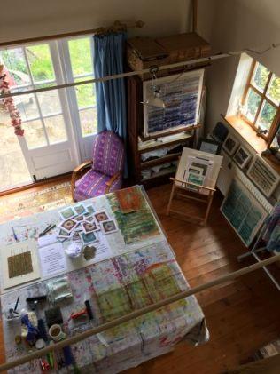 Janet Gilbert studio overhead