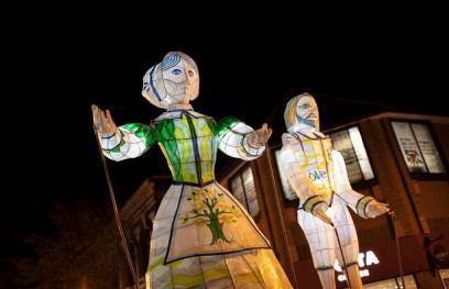 Jess Kemp Pilgrim lantern figures