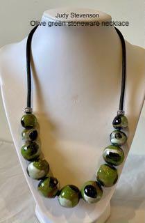 Judy Stevenson - Olive green necklace