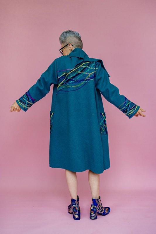 Megan Crook - Teal Wool Coat