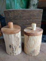 Steve Hunt - walnut shrink pots