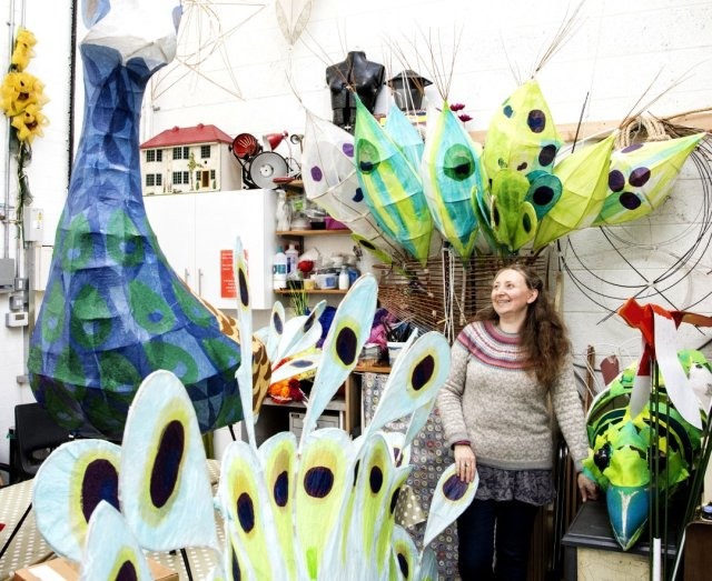 Jess Kemp in her studio at Sneinton Market Avenues