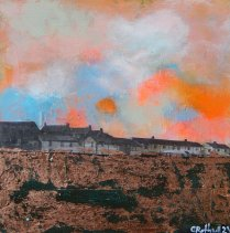 Corrina Rothwell, 'Ice Cream Dystopia', acrylic and mixed media on panel, 15 x 15, £120