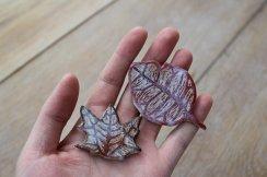 Ruby Daley - Leaf brooches