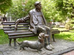 Памятники собаке. Такса.