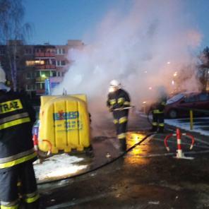 Pożar śmietnika ul.Wysockiego.