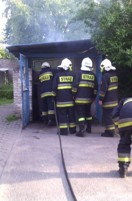 Pożar śmietnika na Łukasińskiego