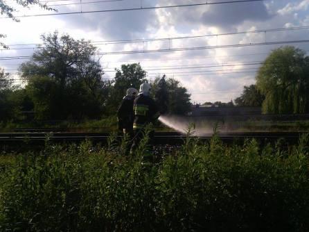 Pożar podkładu