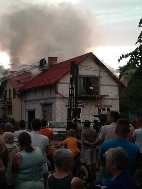 Pożar budynku - ul.Wieniawskiego