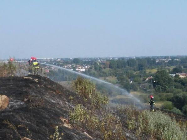 Pożar wysypiska - Pruszków, ul. Żbikowska