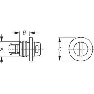 Drain Plug with housing round