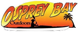 Osprey Bay Outdoors logo with kayaker and palm tree
