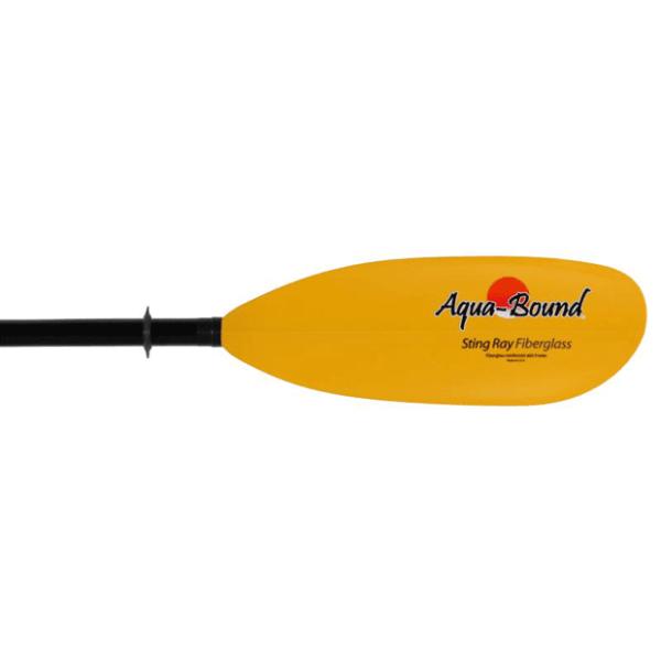 aquabound sting ray fiberglass kayak paddle