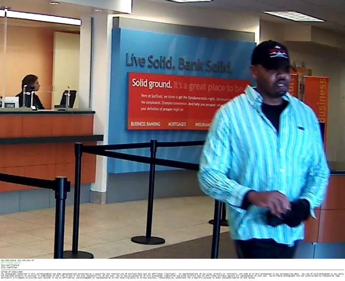 SunTrust Bank Robbery Surveillance Photo #4