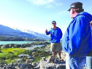 Brian Studiale guides guests on a tour Beyond Skagway and makes sure there are plenty of photo ops along the way.