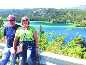 Paul & Tammy Holmberg enjoy the view at Emerald Lake in the Yukon.