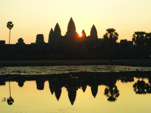 TRAVEL_Sunrise at Angkor Wat in Siem Reap Cambodia
