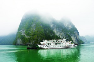 TRAVEL_The morning mist in Halong Bay Vietnam