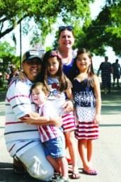 4TH_Brandon 2015 Fourth of July Ray ansd Valerie Cuasan, Rylie  8, Madlyn 6, Wesley 3