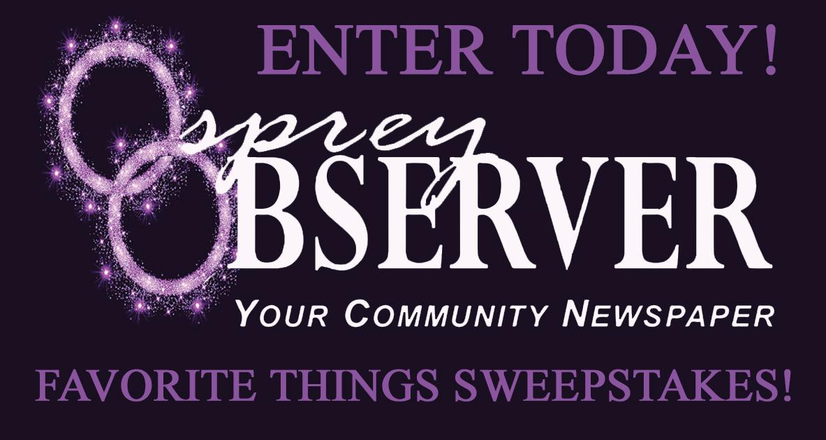 2018 Osprey Observer Favorite Things Sweepstakes - Osprey Observer