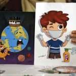 فلسطينية تُصمِّم شخصيات كارتونية لتوعية الأطفال بخطر كورونا