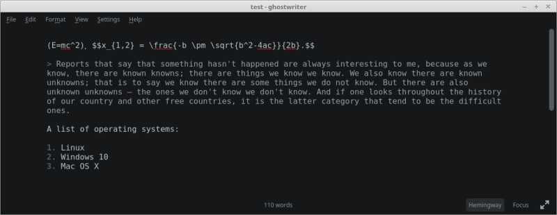 ghostwriter - cross-platform Markdown editor