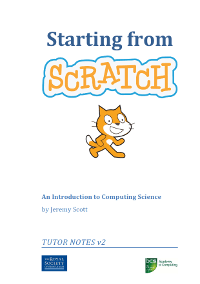 An Introduction to Computing Science: Starting from Scratch - (updated 2016 using Scratch 2)