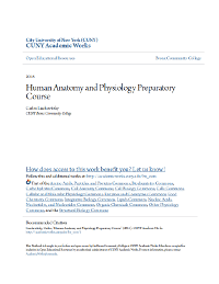 Human Anatomy Physiology Preparatory Course