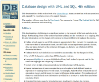 Database design with UML and SQL, 4th edition