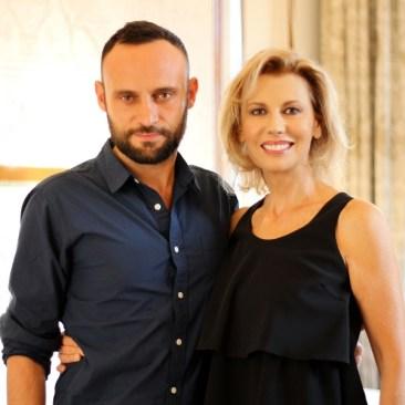 Il regista Ciro Formisano e l'attrrice Daniela Poggi