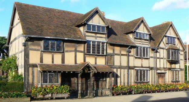 La casa natale di William Shakespeare a Stratford-upon-Avon