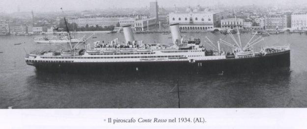 Il transatlantico Conte Rosso nel 1934