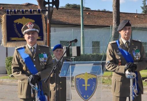 I generali Carlo Lamanna (a sin) e Flaviano Godio