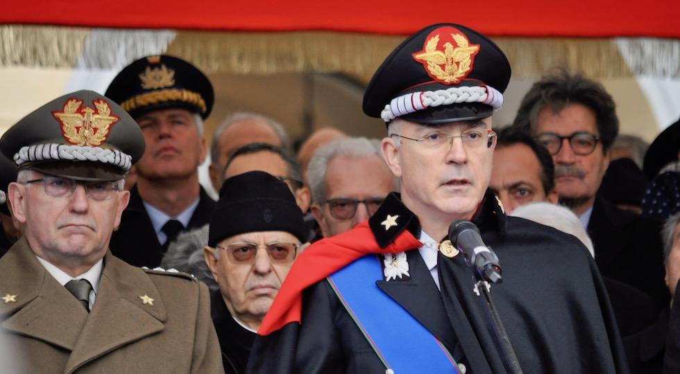 il generale Giovanni Nistri durante ii suo intervento